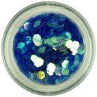 Hexagon albastru - elemente aqua