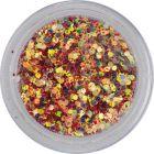 Confetti colorat, 1mm - hexagoane în pulbere roşie