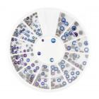 Decorațiuni nail art – strasuri mix - albastre