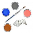 Set Pure I - Kit acrilic colorat de pudre acrilice pentru unghii