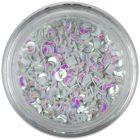 Glitter în formă de semilună - sidefat