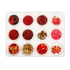 Kit nail art , 12 bucăți – roșu