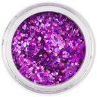 Hexagoane decorative 1mm - efect holografic, violet