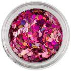 Hexagoane decorative - efect holografic, roz
