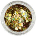 Hexagoane nail art aurii - efect holografic