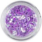 Paiete - hexagoane cu gol în mijloc, violet deschis