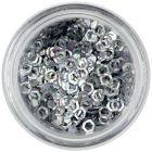 Hexagoane cu efect holografic - argintii, contururi