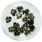 Decorațiuni ceramice pentru unghii - negru-verde