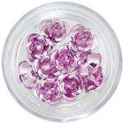 Decorațiuni ceramice pentru unghii, 10 buc – roz deschis