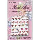 Stickere 3D Sf Valentin pentru nail art - inimi, Cupidon, flori